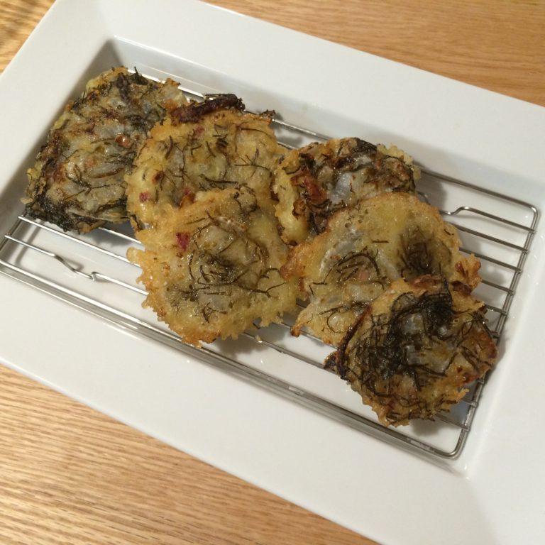 沖縄フェア!もずくの天ぷらを作ってみた!