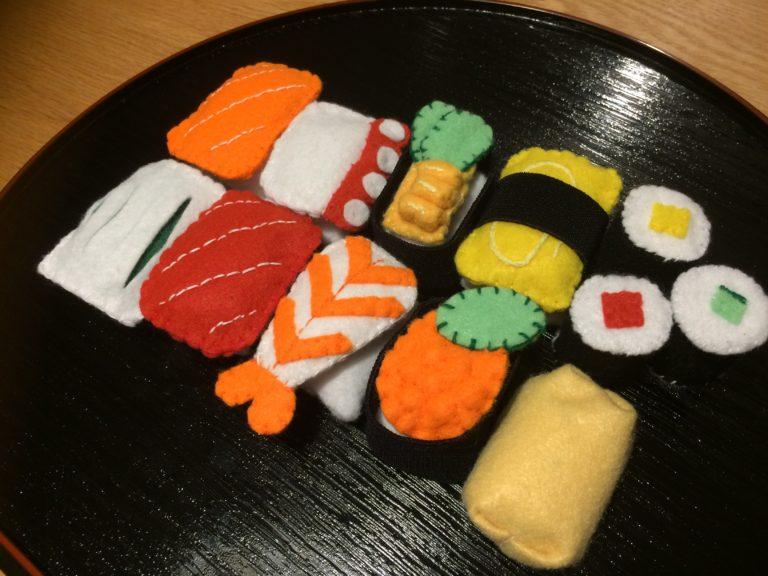 子供も大満足!簡単100均フエルト寿司!