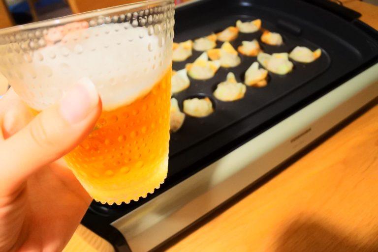 ビール片手に!たこ焼き器で作る簡単シュウマイ!