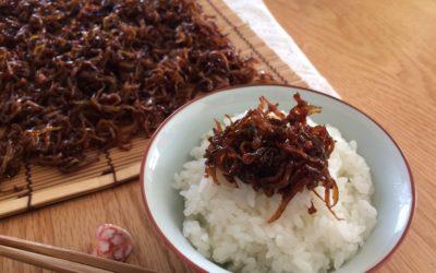 神戸春の風物詩~1kgのいかなごのくぎ煮の炊き方
