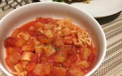 トマト缶でお手軽ミネストローネのレシピ