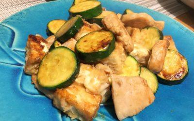 お肉を食べ過ぎない!豆腐と胸肉のオイスター炒め