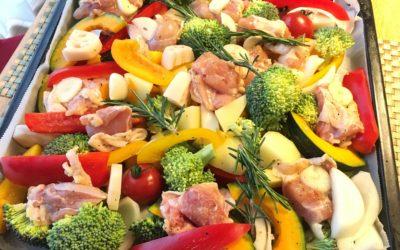 手間なし!天板のまま出せるおもてなし料理!鶏と野菜のグリル